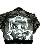 SCARFACE PU LEATHER LOOK QUILTED LINING VINTAGE BIKER BOMBER JACKET
