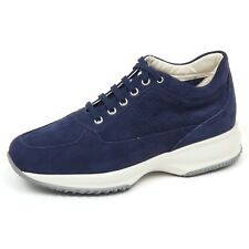 E8978 sneaker donna light blu HOGAN INTERACTIVE H forata H perforated shoe woman