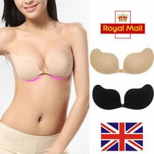 New Women Push Up Sticky Strapless Backless Silicone Self Adhesive Invisible Bra