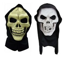 Adult Skull Hooded Terror Mask Skeleton Grim Reaper PVC Halloween Horror Masks