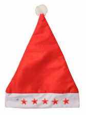 Adult Red Flashing Star Santa Light up Hat Fancy Christmas Dress Party Accessory