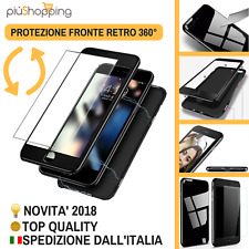 COVER CUSTODIA MAGNETICA 360° FRONTE RETRO CON VETRO PER APPLE IPHONE 6 6S 7 8 X