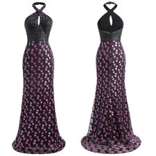 Wedding Dress Stunning Long Maxi Sequin Backless Halter Sexy Formal Sequined