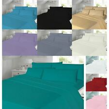 Flannelette Sheet Set With Fitted Flat Pillowcase Single Double King Superking