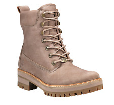 "Timberland Women's Courmayeur Valley 6"" Casual Boots Taupe Grey Sizes 9"