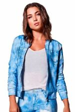 Light Wash Jeans Suplex Bomber Jacket