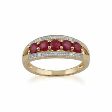 Gemondo 9ct Yellow Gold 0.81ct Ruby & Diamond Ring