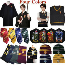 Harry Potter Gryffindor Slytherin Hufflepuff Ravenclaw Cloak Tie Scarf Cosplay