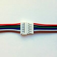 Micro JST 1.25mm 6 way Male & Female 15cm + 15cm Cable Sets UK Seller