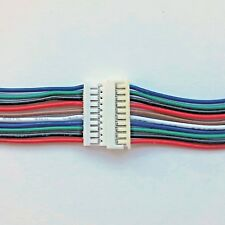 Micro JST 1.25mm 10 way Male & Female 15cm + 15cm Cable Sets UK Seller