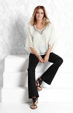 WOMENS DRESSY SUMMER WHITE LOOSE TOP BEADED DESIGN PLUS SIZE 16 18 20 22 24 26