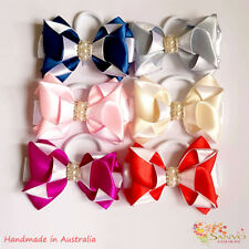 School Bow Wiggle Bow Hair Clip Girl Woman Satin Ribbon Bow Clip