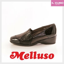 MELLUSO SCARPA DONNA PELLE COLORE MORO ZEPPA H 4CM SHOES  MADE IN ITALY