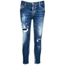 DSQUARED2 JEANS GAMBA DRITTA DONNA NUOVI NUOVI ORIGINALI COOL GIRL CROPPED B 4E7
