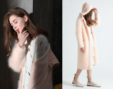ANGORA WOLLE CARDIGAN STRICKMANTEL JACKE WOOL KNIT COAT JACKET MINK CASHMERE