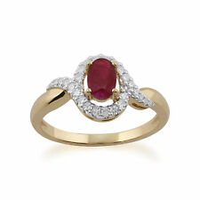 Gemondo 9ct Yellow Gold 0.63ct Ruby & Diamond Ring