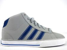 Boys Girls Adidas Neo Daily Vulc Mid Grey Shoes Lace Up Casual Trainers