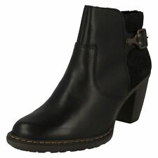 Ladies Rieker Smart Heeled Ankle Boots 55292