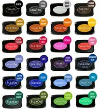 TSUKINEKO STAZON FAST DRYING PERMANANT STAMPING INK PAD MANY COLOURS TO CHOOSE