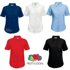 Fruit Of The Loom Manga Corta Camiseta de Popelina Bolsillo Elegante