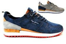 Pepe Jeans London PMS30411 Azul y gris Zapatillas Hombre Chaussure Casual