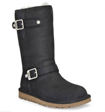 Girls Genuine UGG Australia Tall Leather Boots - Kensington Kids 9, 10, 13 BNIB
