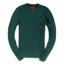 SUPERDRY Maglione girocollo Garment Dye L.A Textured M61013N UP7 Washed Forest