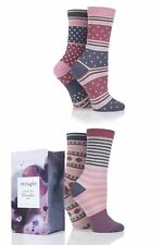 Ladies 3 Pair Thought Spot and Stripe Bamboo and Organic Cotton Socks Gift Box
