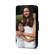 Personalised Phone Case Photo Wallet Faux Leather Flip Phone Case Cover