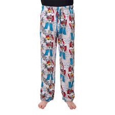 Transformers Lounge Pants, Cartoon Print Pyjamas Bottoms, Mens Grey Nightwear