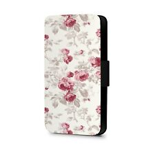 Floral Phone Case Print Colourful Flowers Faux Leather Flip Phone Case Cover
