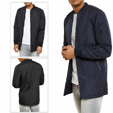 Mens Threadbare Bomber Jacket Quilted MA1 Padded Warm Coat Zip Up Military LYNX