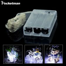 Pocketman® New 2M 5M 10M Copper Silver Wire LED String Lights Waterproof Holiday