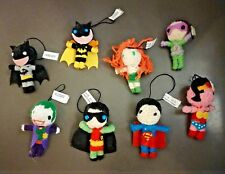 "DC Comics Batman Batgirl Robin Joker Superman 3"" Yarn String Voodoo Doll Figures"