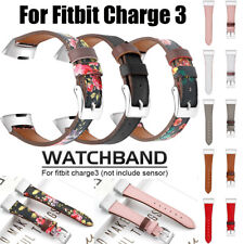 Fashion Genuine Leather Band Strap Bracelet Wristwatch Band For Fitbit Charge 3