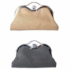 Ladies Stylish Diamante Clutch Bag Diamante Clasp Party Bag Handbag Purse M1600