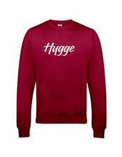Hygge Slogan Sweater in Red Hot Chilli Sizes 10 - 20