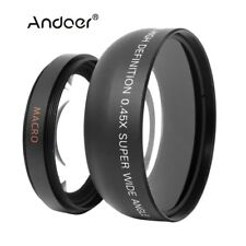Andoer HD 52MM 0.45x Wide Angle Lens with Macro Lens for Canon Nikon Sony