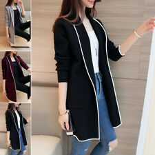Da Donna, Lunga Trench Giacca Giacca Casual Cardigan Donna Cappotto Giacca