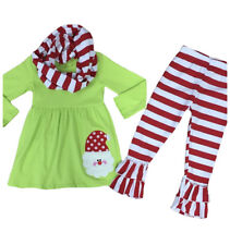 Baby Toddler Girl Christmas Tree Holiday Boutique Dress Outfit Infant Clothing