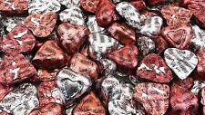 Hershey's Valentine's Extra Creamy Candy Milk Chocolate Hearts Silver, Pink Foil