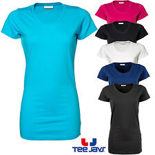 Maglietta Jays T-Shirt da Donna Stretch extra lungo Scollo a V Basic