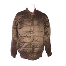 Air Jordan Mens Brown Quilted Bomber Jacket Size Large