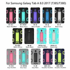 Shockproof Heavy Duty Stand Case Cover For Samsung Galaxy Tab A 8 T380/T385(2017