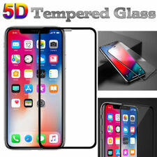 5D Full Cover Tempered Glass Screen Guard Protector For Apple iPhone (Black)