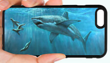 GREAT WHITE SHARK OCEAN PHONE CASE FOR IPHONE XR XS X 8 7 6S 6 PLUS 5 5S 5C 4S