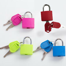 1pc Metal Small Mini Strong Steel Padlock Travel Suitcase Diary Lock With 2 Keys