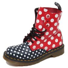 F1440 (NO BOX) anfibio donna blue/red DR. MARTENS CHAY scarpe boot shoe woman