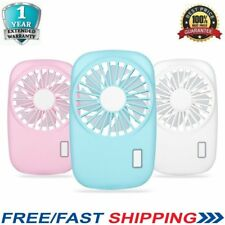 Portable Mini Hand Held USB Rechargeable Mini Air Conditioner Cooler Fan ON