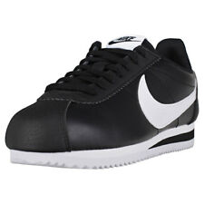 Nike Classic Cortez Womens Black White Leather & Synthetic Trainers